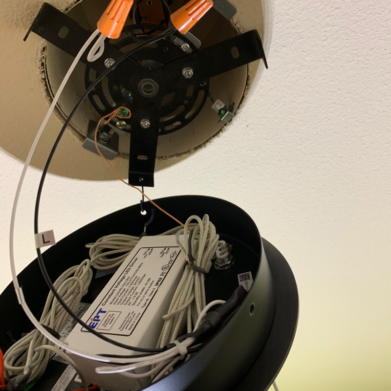 How to install the ET2 iQ Pendant and Flush Mount Lamps