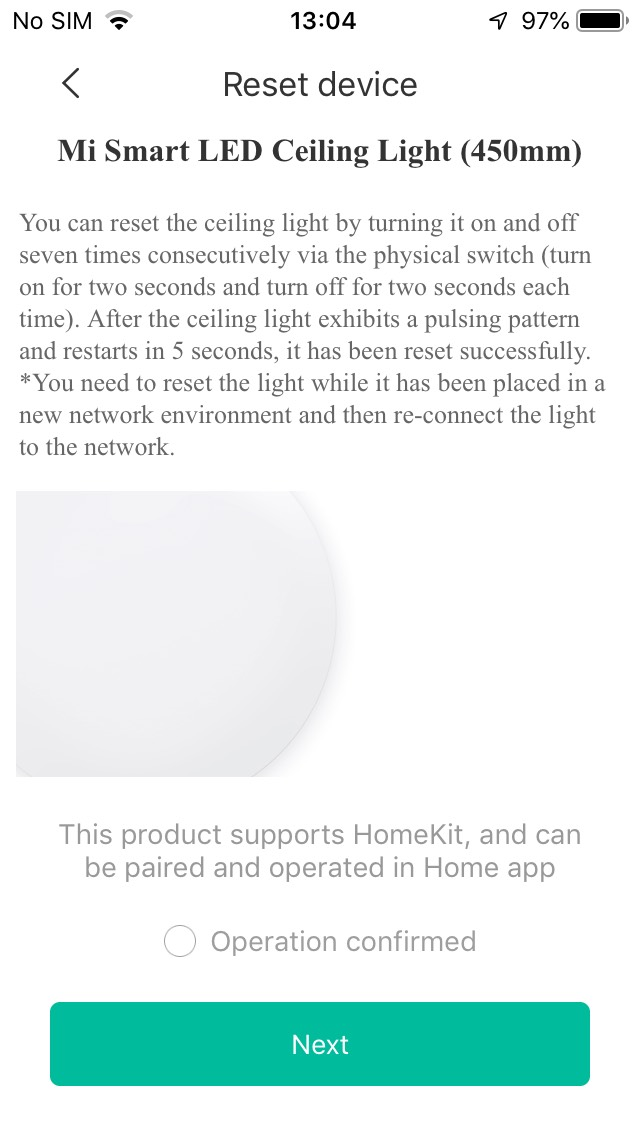 Mijia  HomeKit Ceiling Light launch