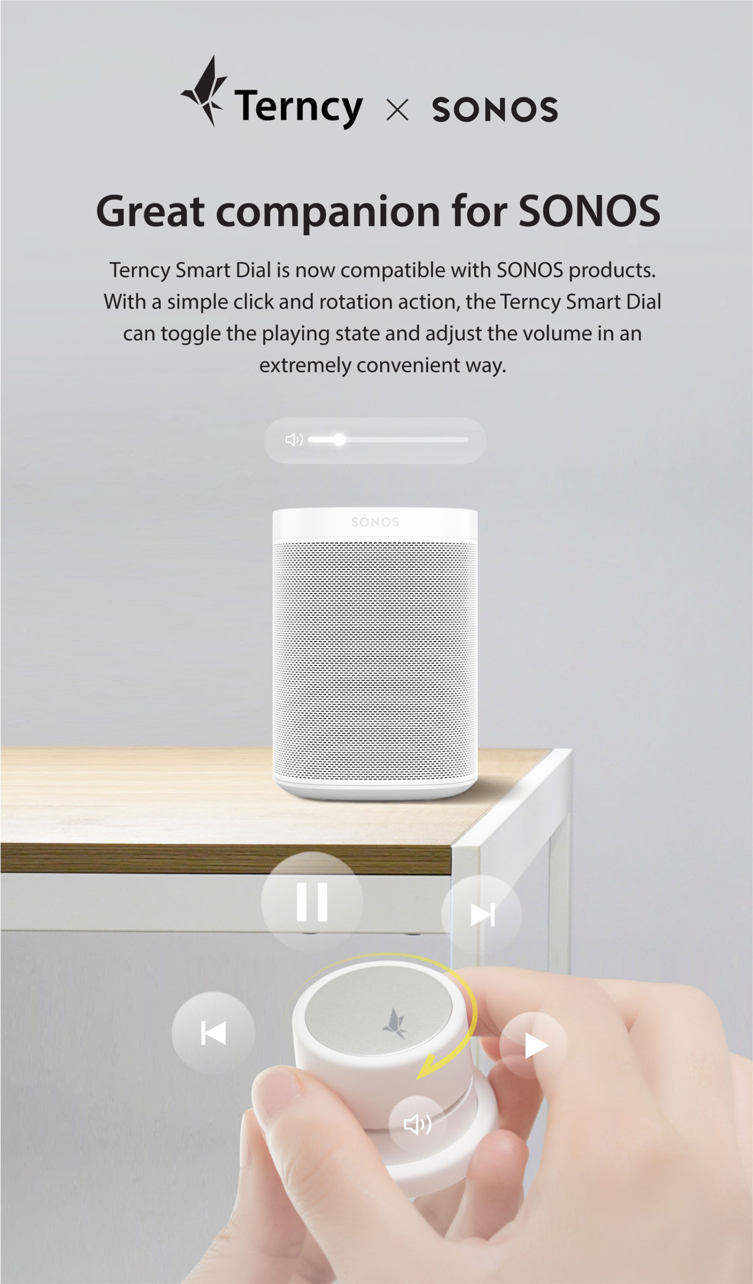 Terncy Smart Dial Now Works With Sonos Speakers