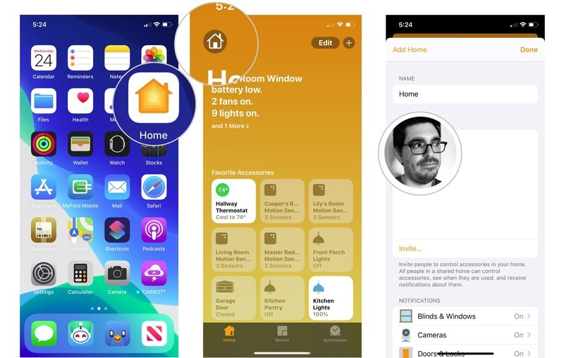 How to add users to your HomeKit home