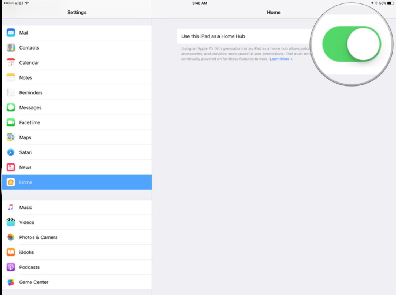 How to Make an Apple TV, iPad or HomePod a HomeKit Hub