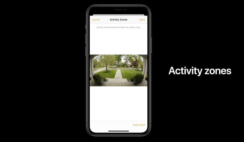 How to create activity areas with HomeKit Secure Video camcorders
