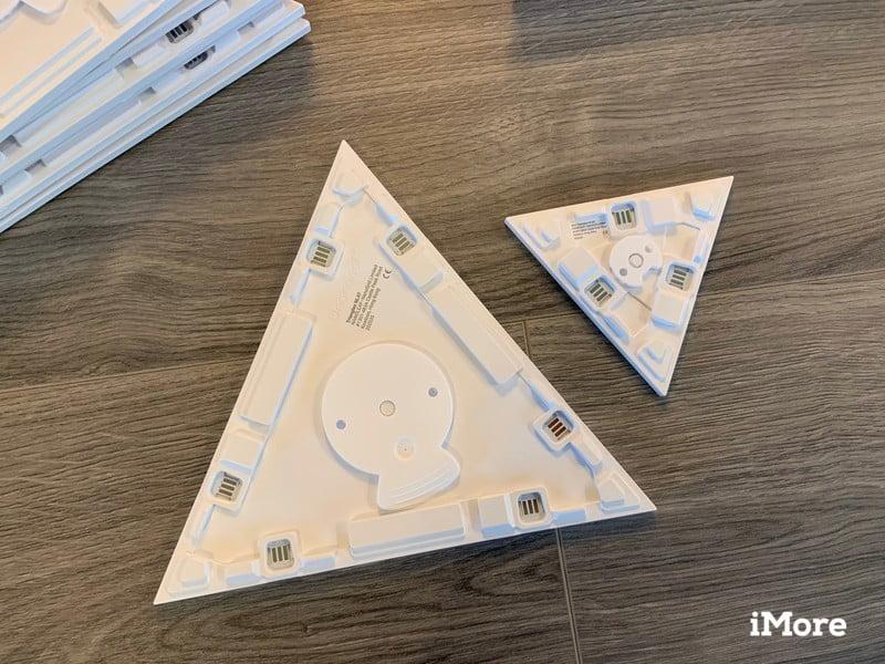 Nanoleaf Shapes Triangles Review Backs
