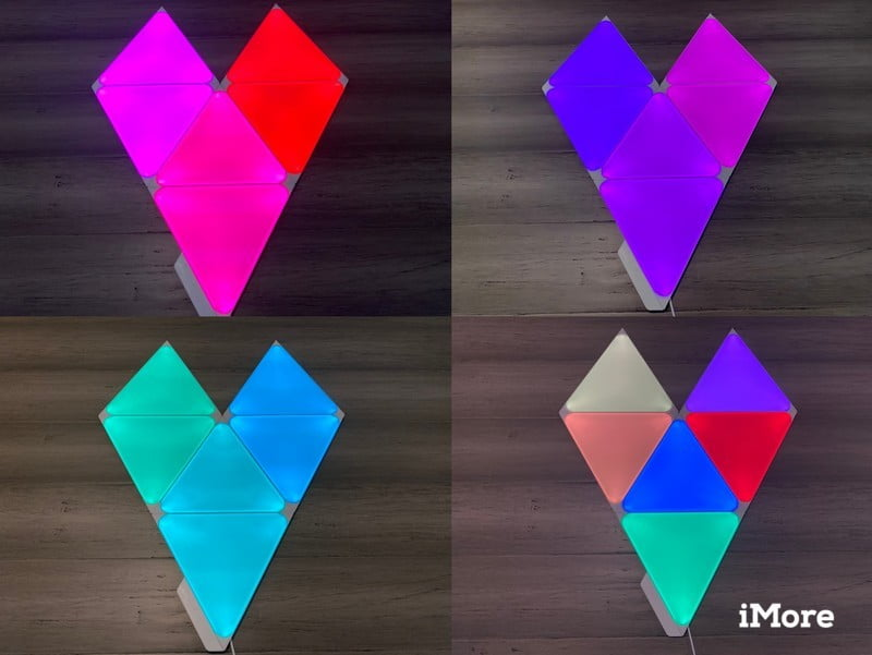 Nanoleaf Shapes Triangles Review Color Examples