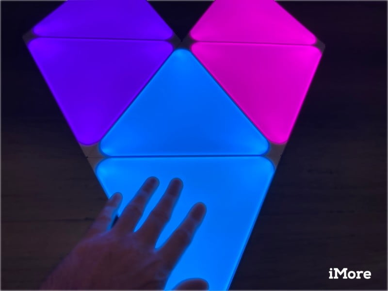 Nanoleaf Shapes Triangles Review Touch Controls