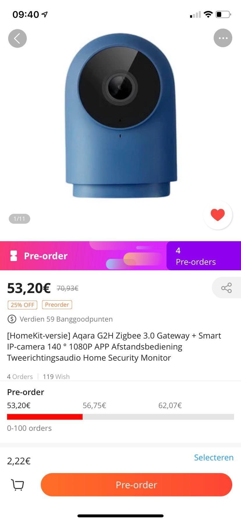 Aqara G2H available for pre order from Banggood