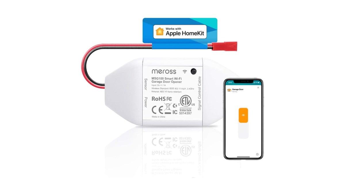 Bring homeKit control to your garage door with this smart hub meross for $ 40 (save 20%)