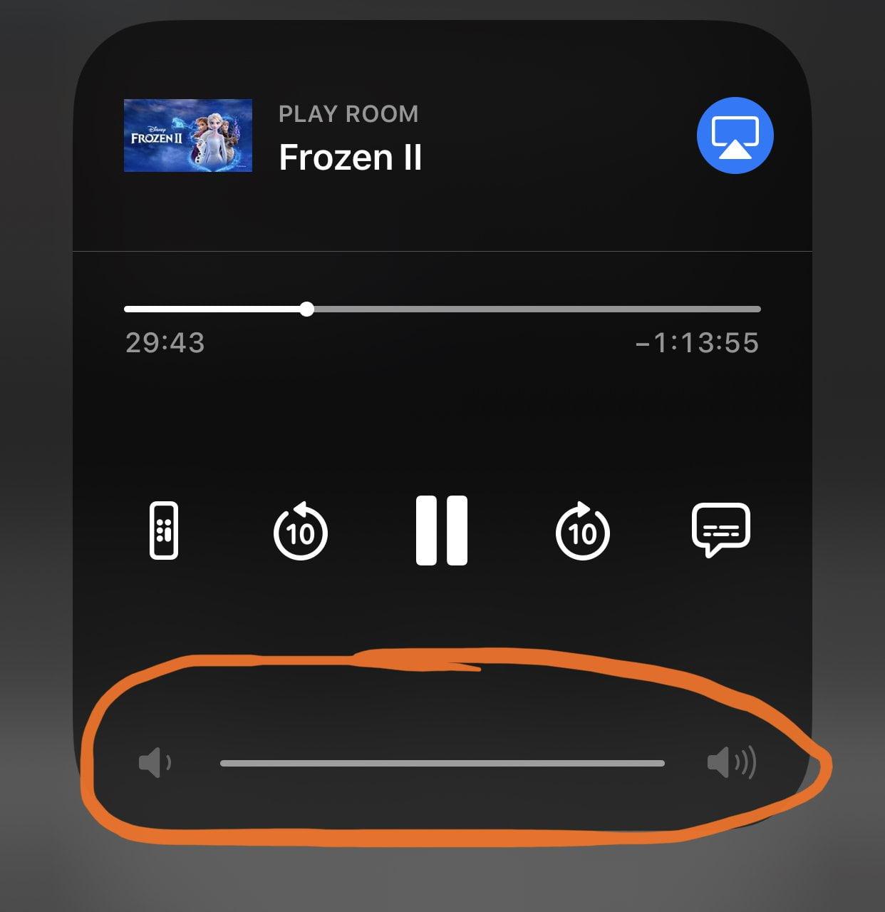 Control Center Volume Control for HomeKit TV + Apple TV