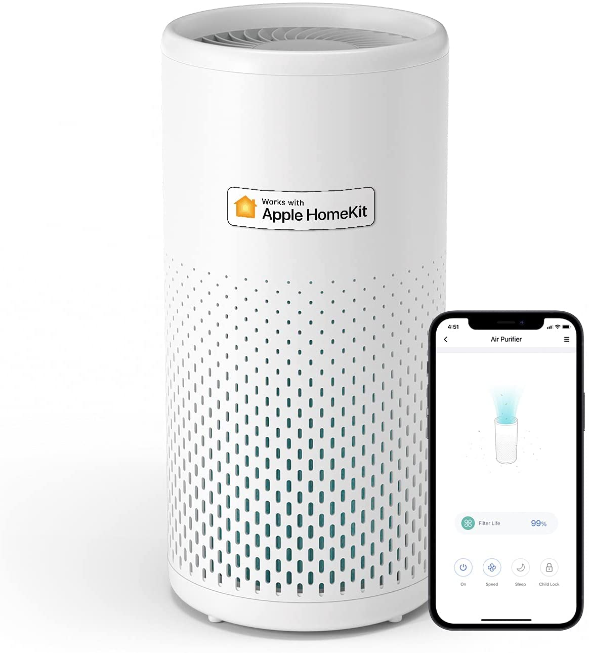 Control the new Meross accessible Wi-Fi air purifier with HomeKit