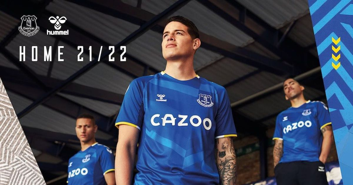 Everton unveils a new home kit inspired by camouflage for the 2021-22 season