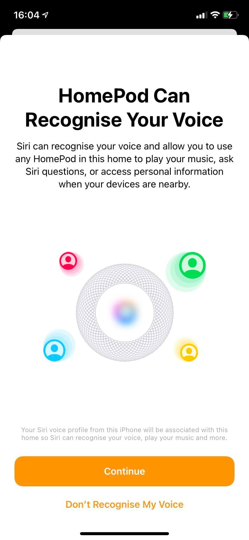 Every time I launch the Home application, it makes me learn SIRI my voice (default 5 questions).  SIRI works on HomePod, iPad and my phone, but it requires me to learn its voice every time I launch the application from home.  (Even though I've done it a hundred times).  What can I do?