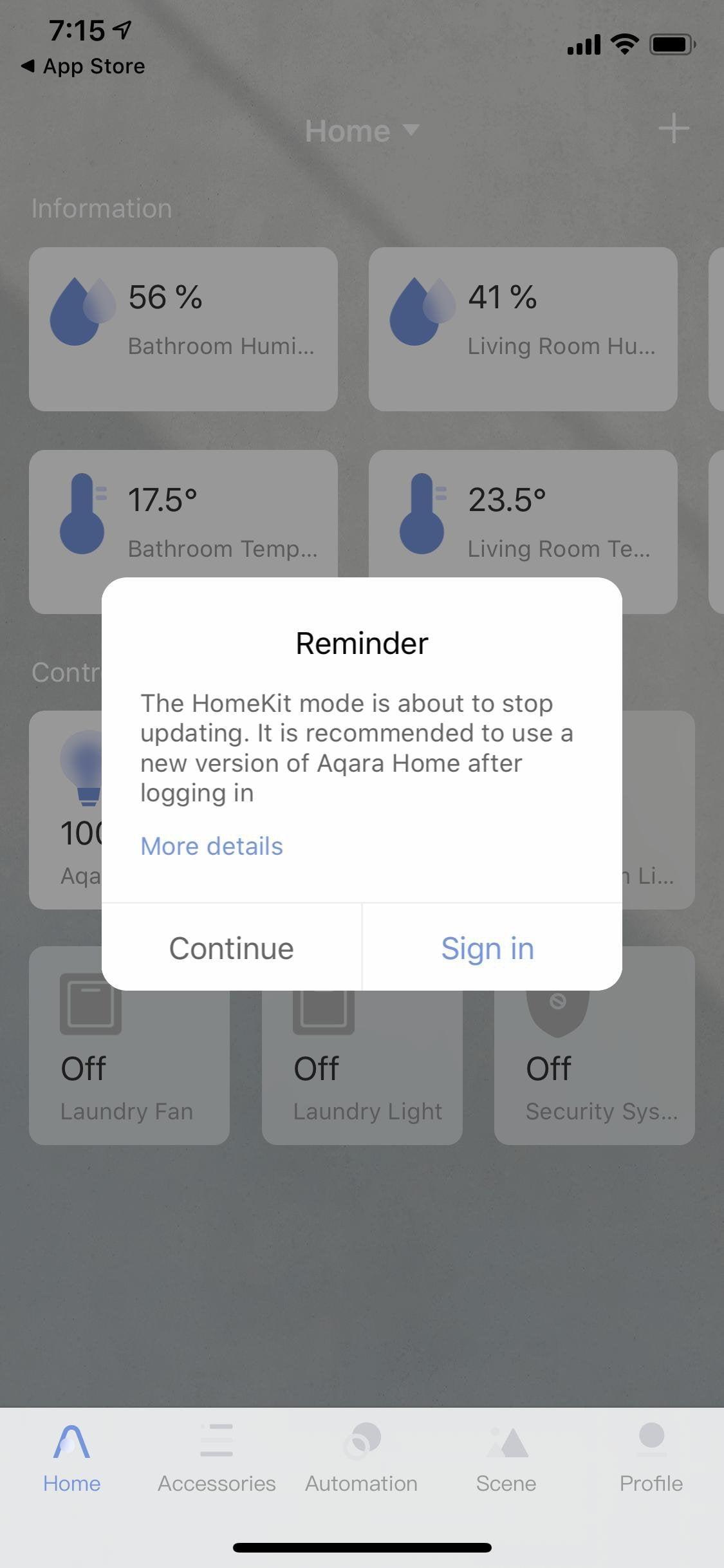 FYI If you use Aqara in HomeKit mode