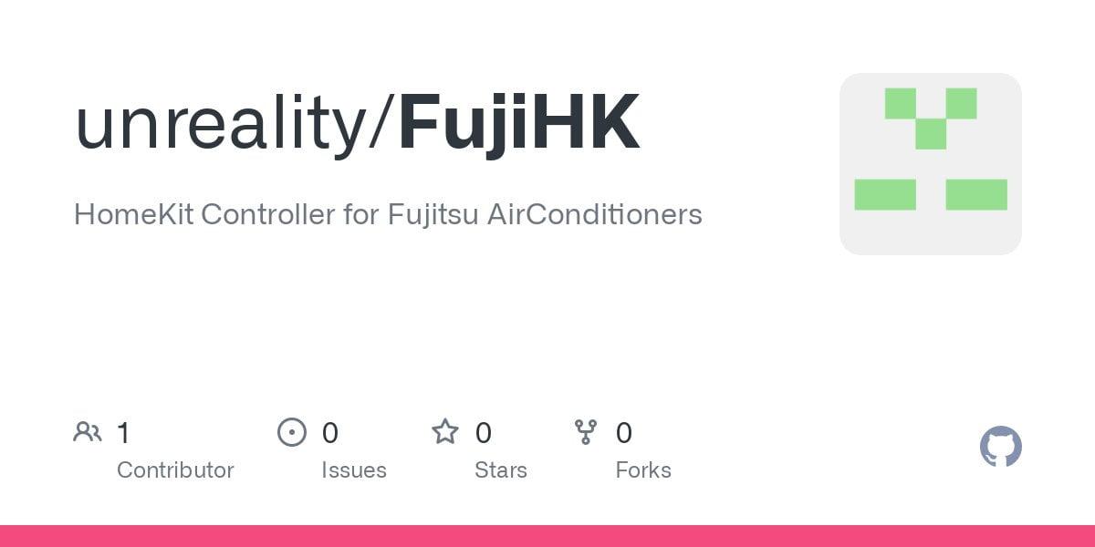 FujiHK: HomeKit Controller for Fujitsu AirConditioners