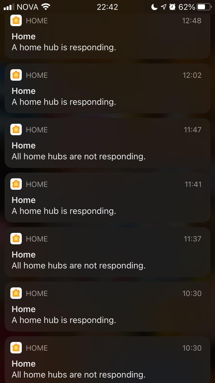 Home hub connection issue. After upgrading to iOS 14 my