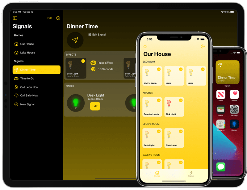 HomeKit signals can draw everyone's attention with lighting effects