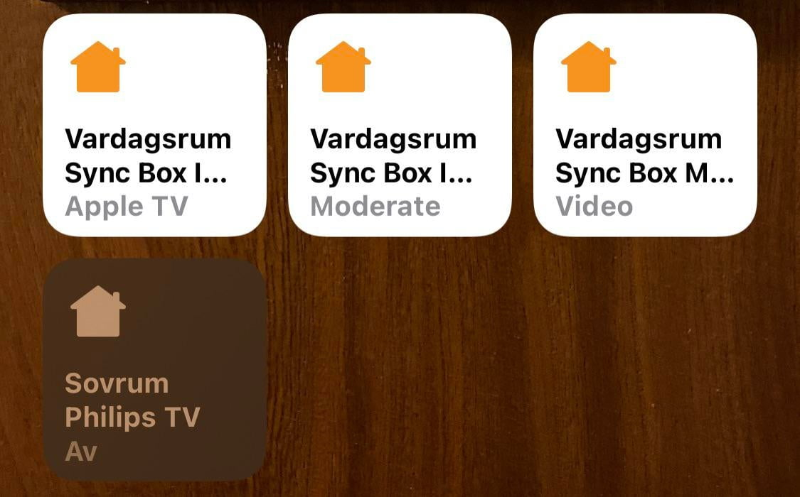 Homebridge TV icons turned into a house with iOS 14