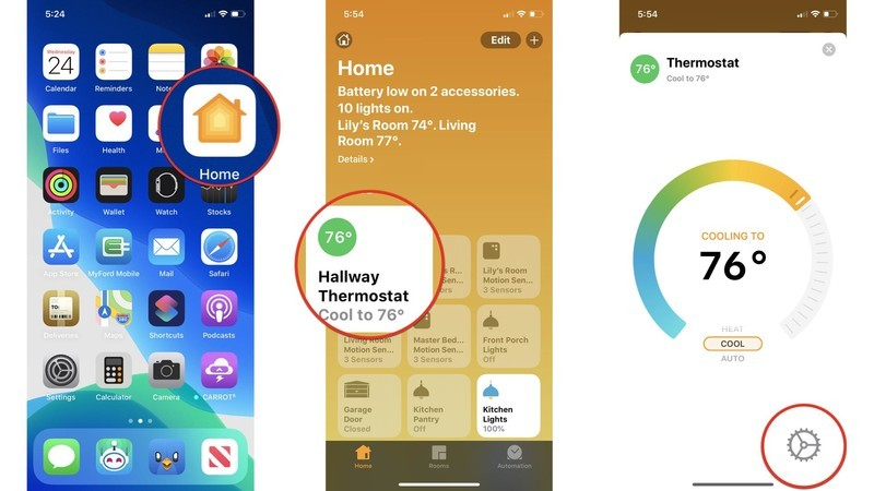 How to adjust HomeKit accessories notifications and status