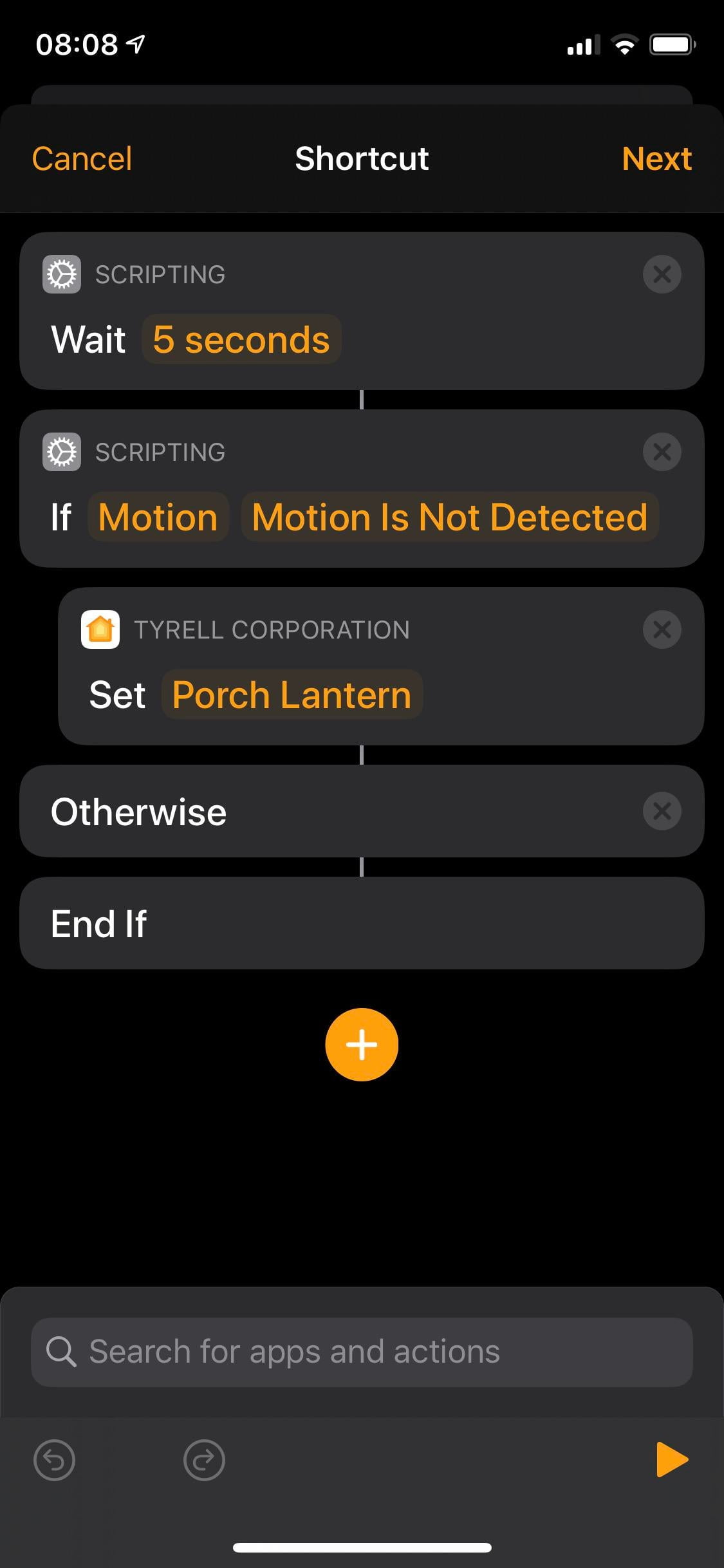 How to turn off the lights when no movement is detected (a much simpler solution).