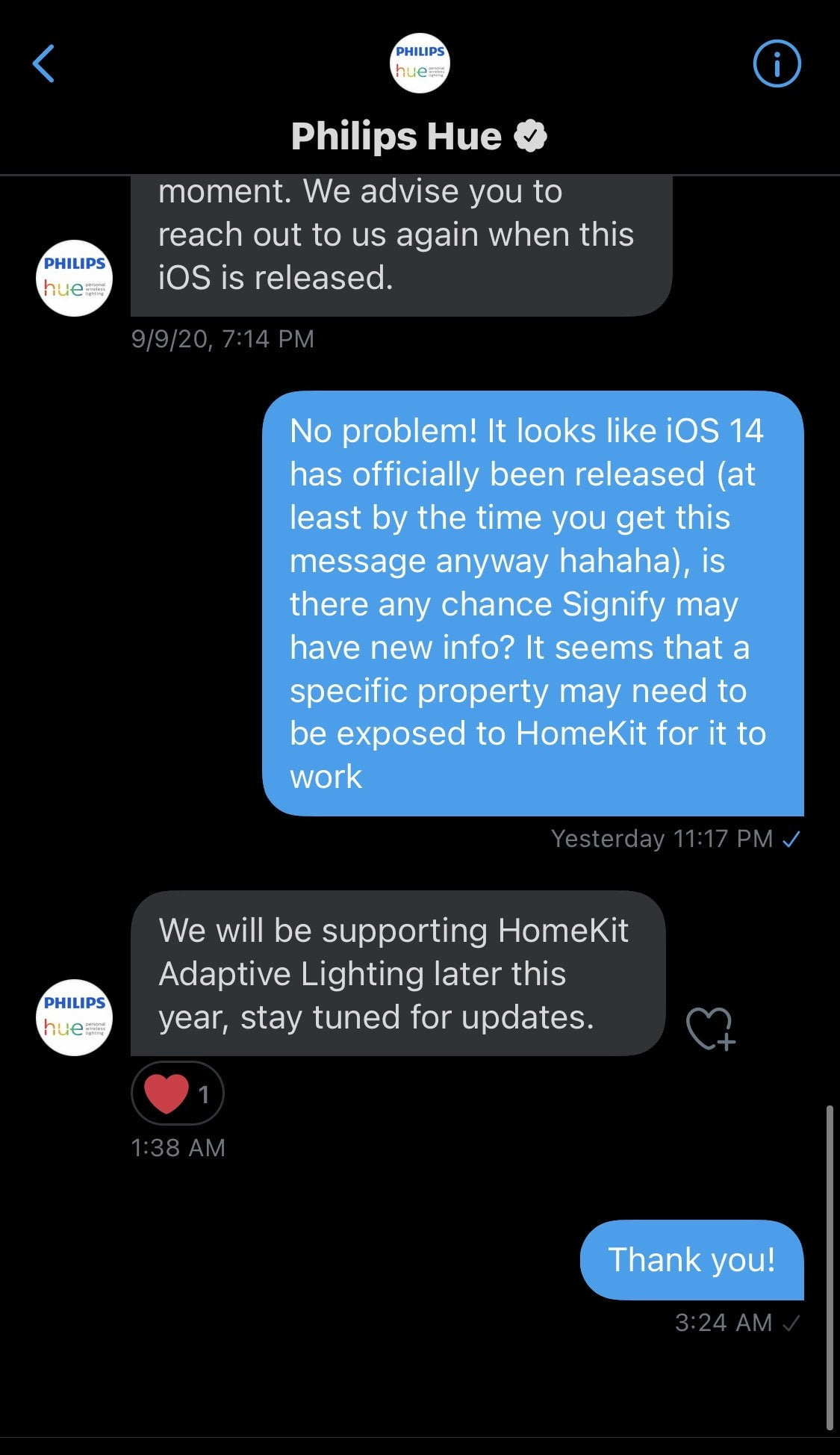 Hue Supporting adaptive lighting Later this year