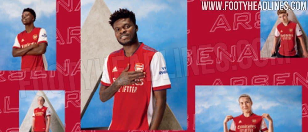 Arsenal 2021/22 Home Kit Promotional Picture Leak (Photo via FootyHeadlines.com)