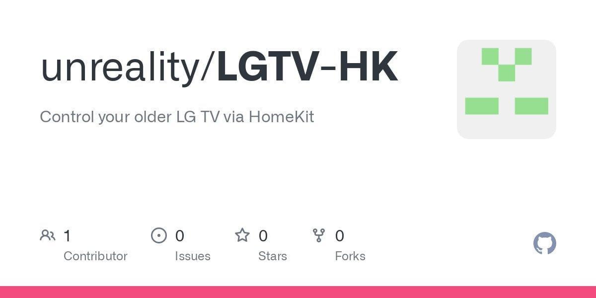 LGTV-HK: Control your older LG TV with HomeKit via its RS232 port