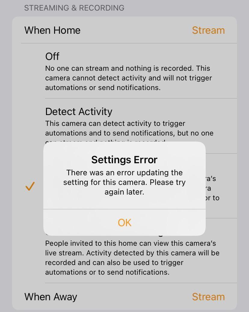 Logitech Circle View Doorbell Cam error help Continue to receive