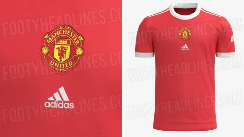 Manchester United 2021/22 home kit has been leaked online