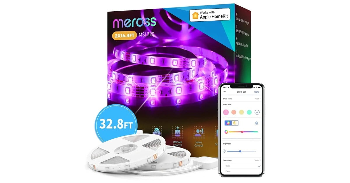 Meross HomeKit RGB Light Strips falls within the new Amazon lows from $ 25 (save up to 38%)