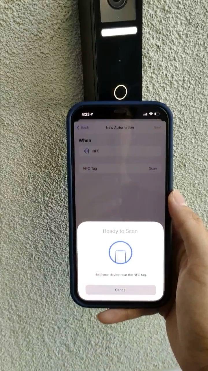 NFC Logitech Circle View Doorbell to unlock the HomeKit compatible