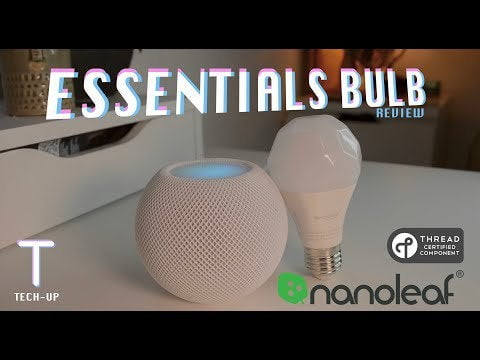 Nanoleaf Essentials Bulb - Review and Setup / is my first video, I just wanted to share how big this bulb is and is under 20 GBP.  The best part is that if you use a HomePod mini, it's like throwing a switch.  Audio does not work great.  But rejoice