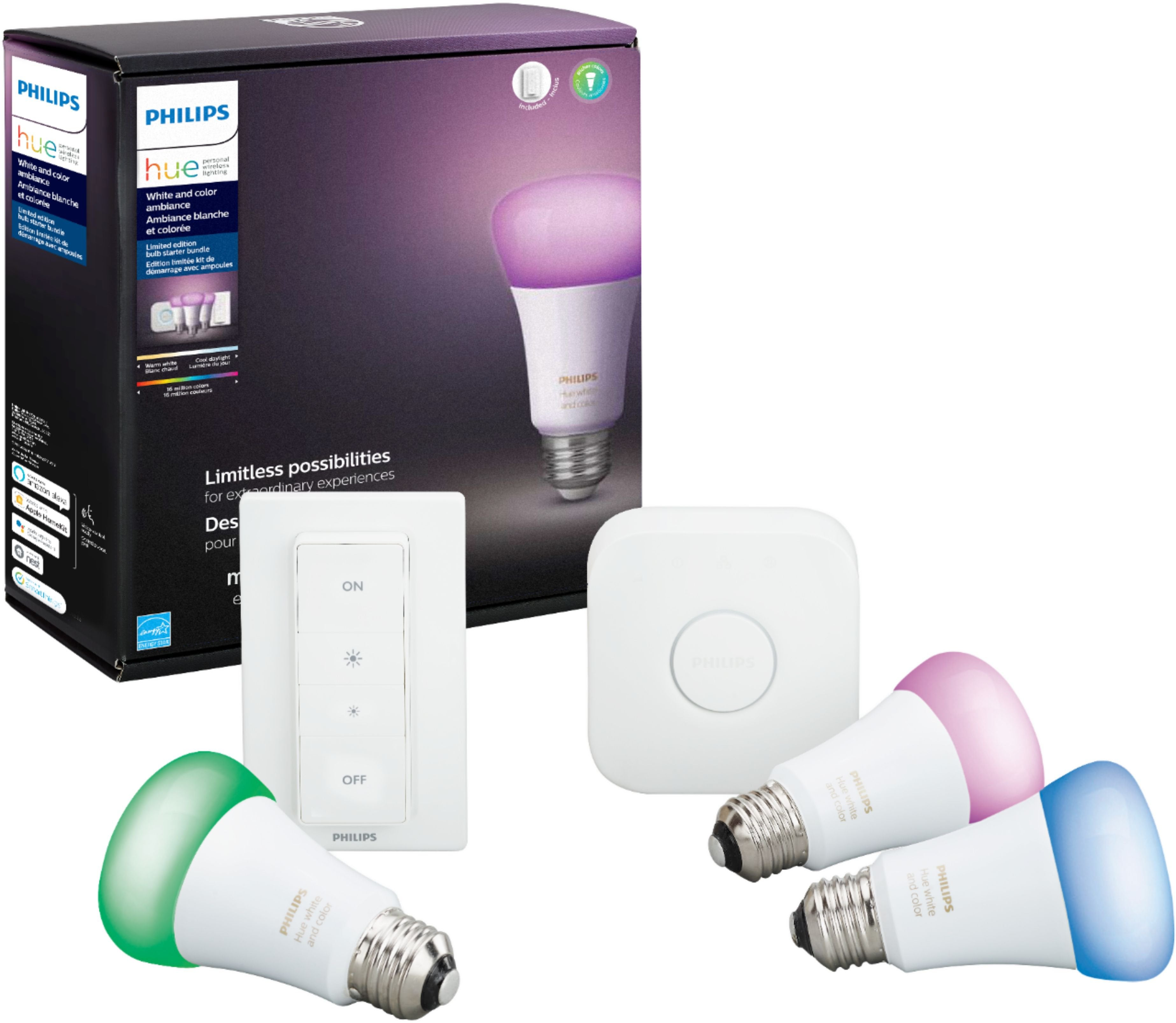 Philips Hue White Color Ambiance LED Starter Kit Multicolor