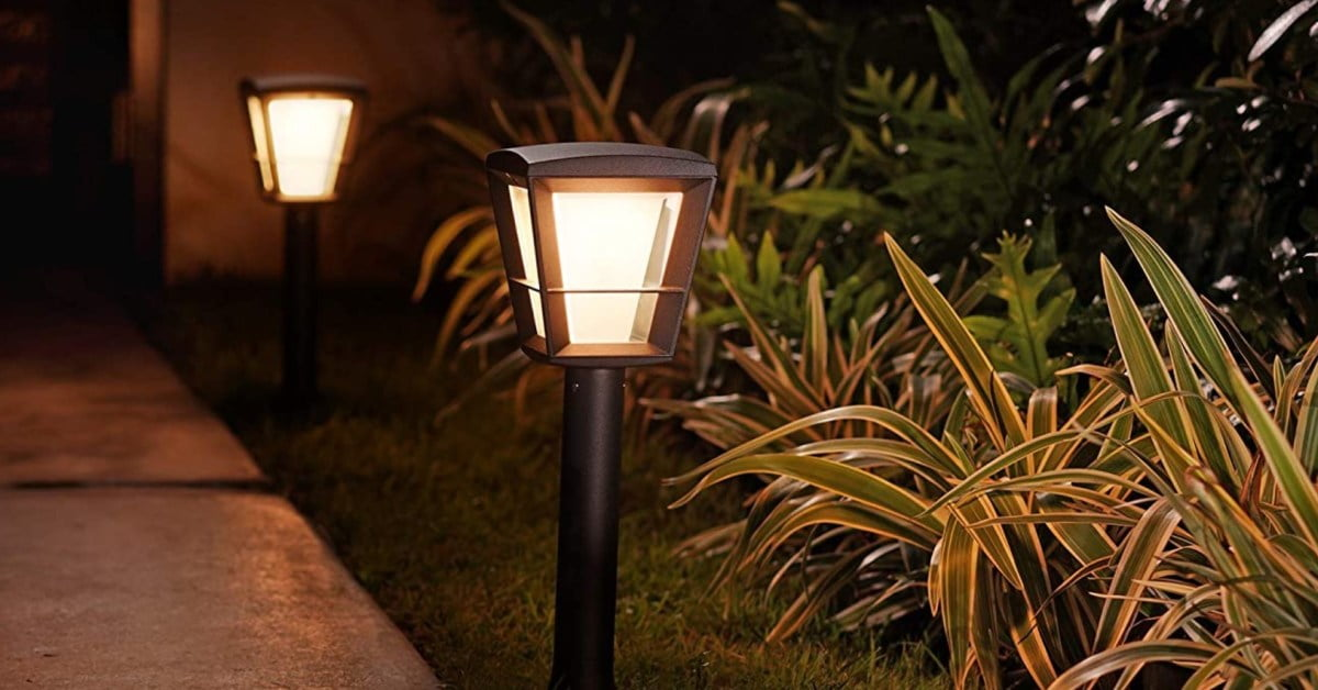 Philips Hue exterior lights see rare discounts: Pathway lamps, light strips, more than 80 USD
