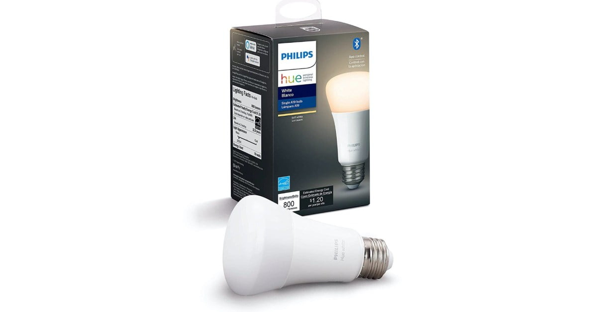 Philips Hue white smart bulb with white adjustment drops to a minimum of $ 9 (save 40%)