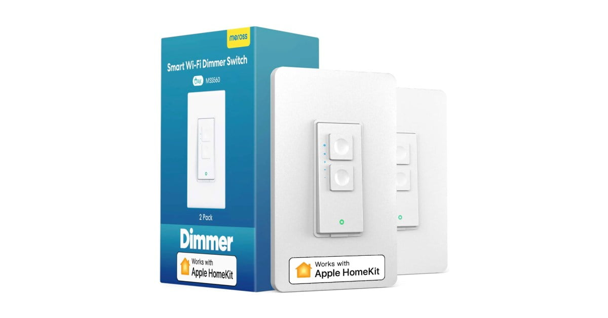 Replace smart bulbs with dimmer HomeKit switches at $ 18.50 each (low all-time)