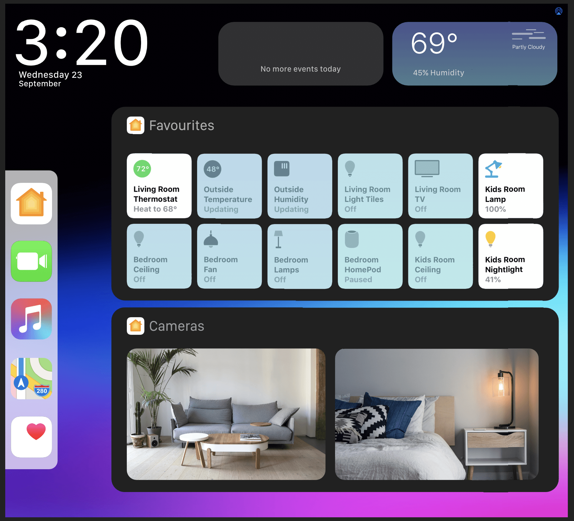 Siri Smart Display UI version 2