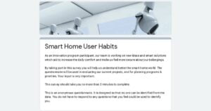 Smart Home user habits for a new validation of the product idea - 3 minutes