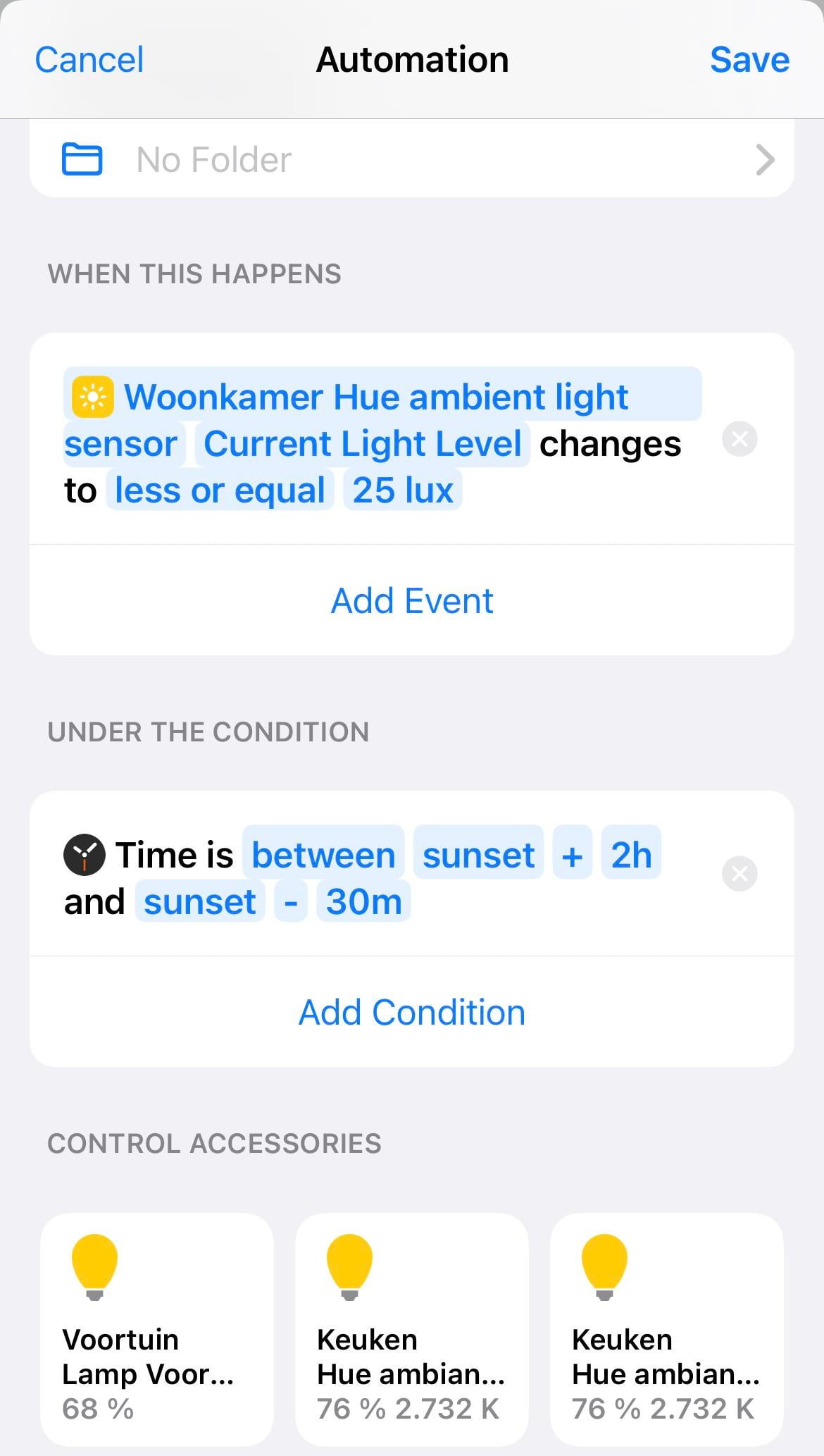 Sunset Light automation does not work properly Need help Home
