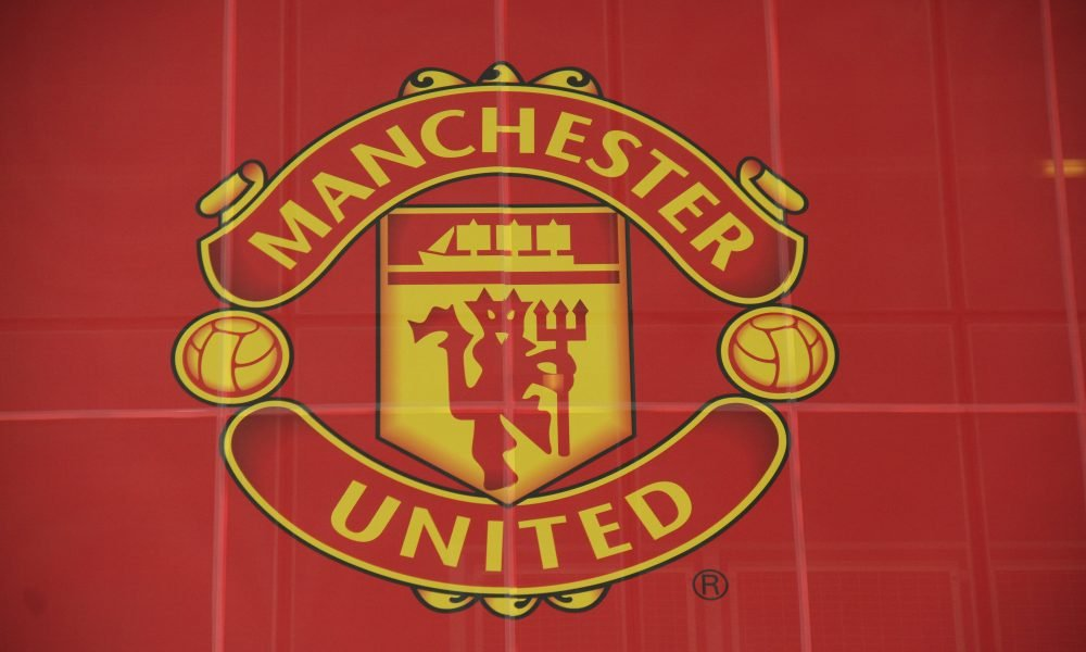 The Manchester United logo, as seen at Old Trafford. (imago Images)