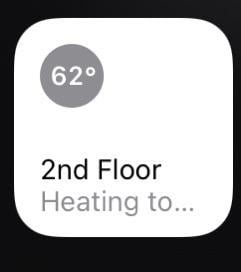 "The HomeKit thermostat ""stops"" the error"