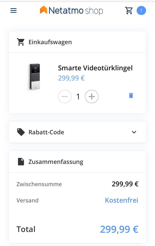 The Netatmo doorbell is finally available httpsshop.netatmo.comde desecurityvideo doorbellsdoorbell