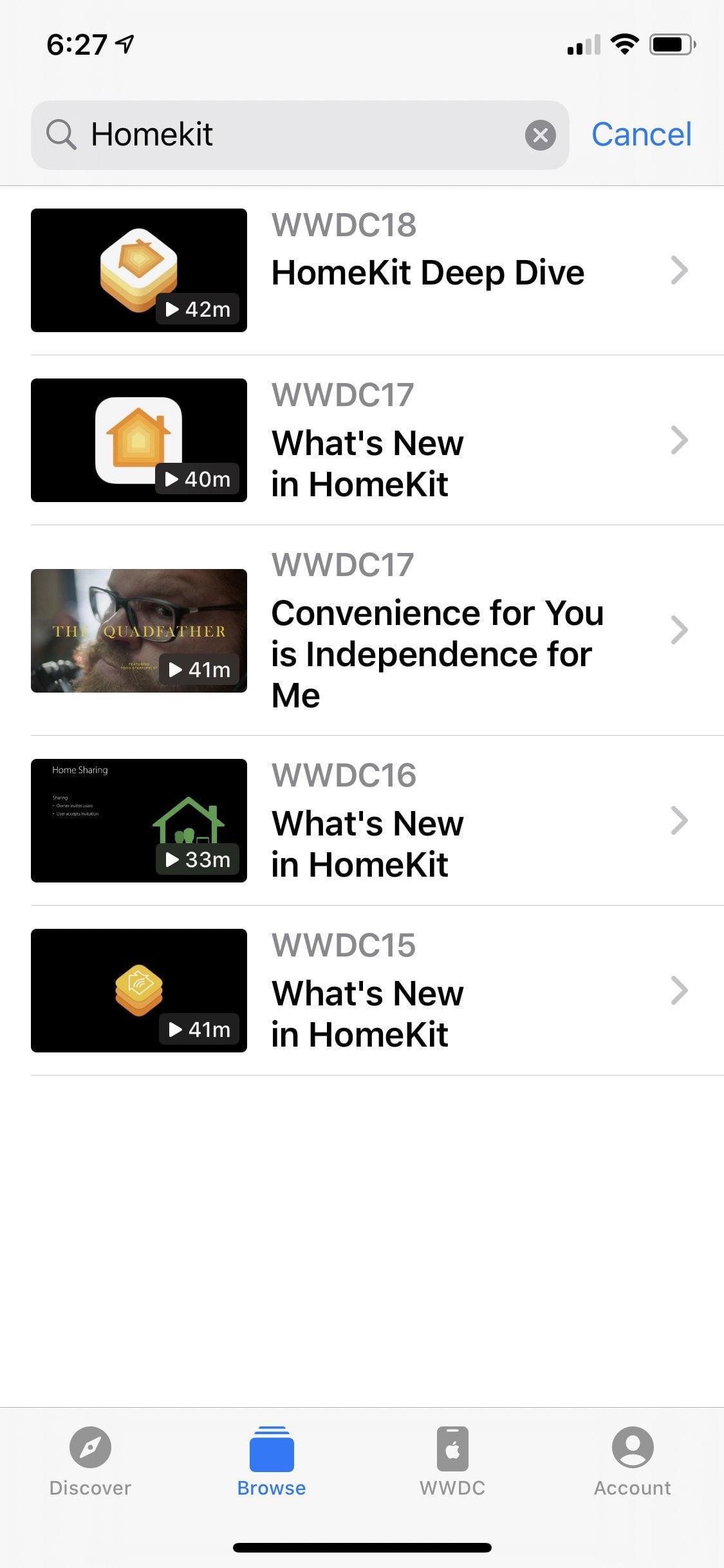 The application developer sought for Homekit