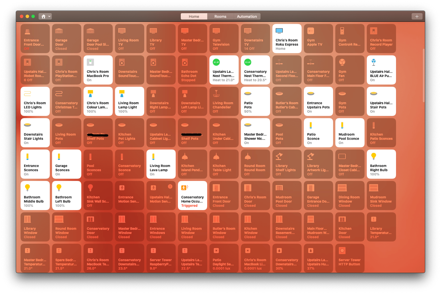 Thinking about setting up Homekit?  (Note: I put everything in favorites for aesthetic purposes)
