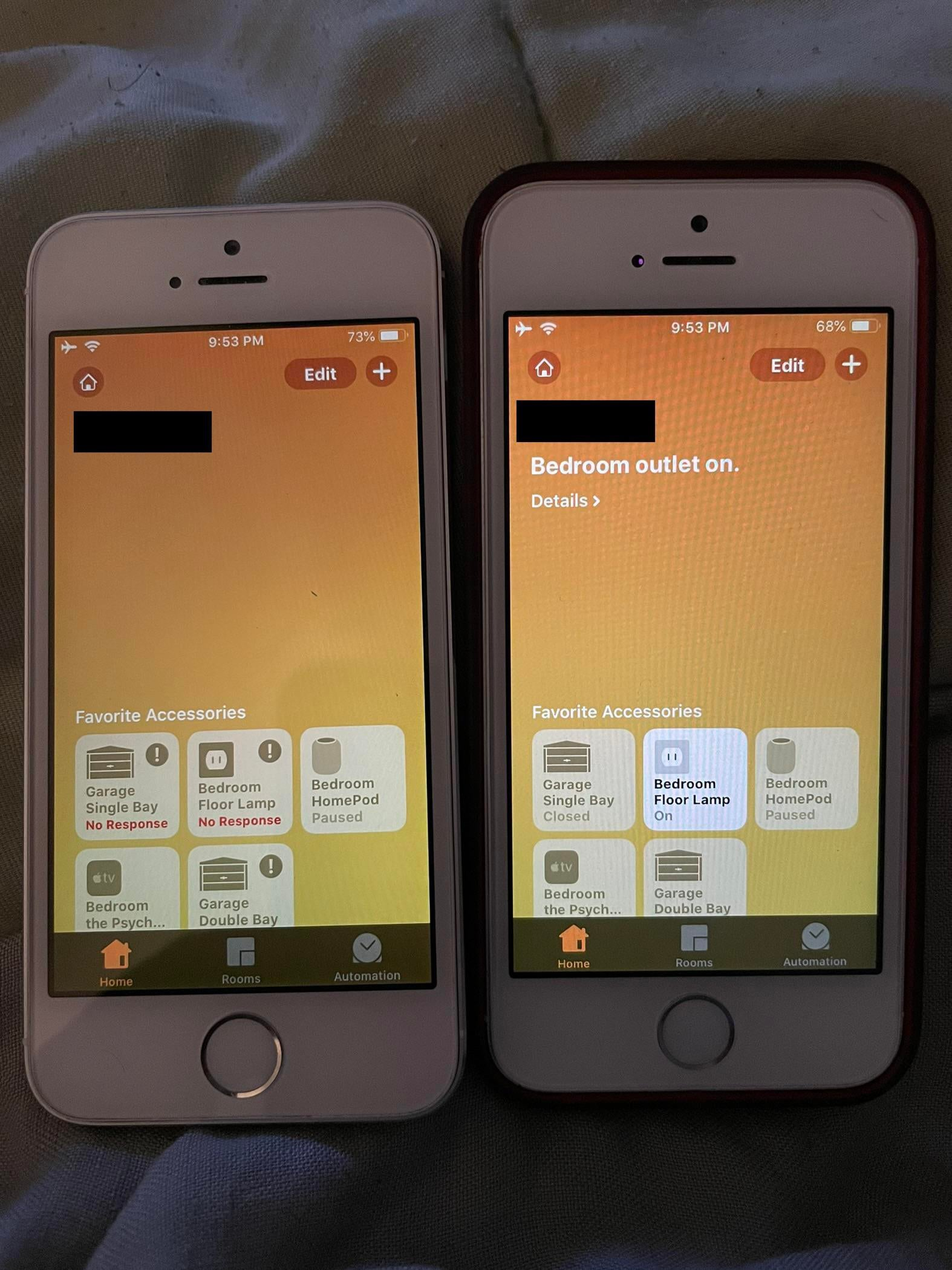 Two iPhones the same network the same ID the same