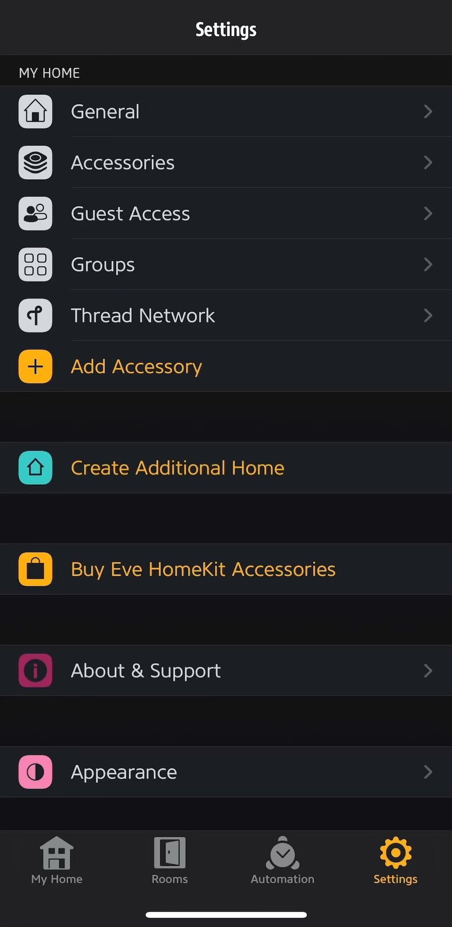 Why cant the Eve app detect the Thread network