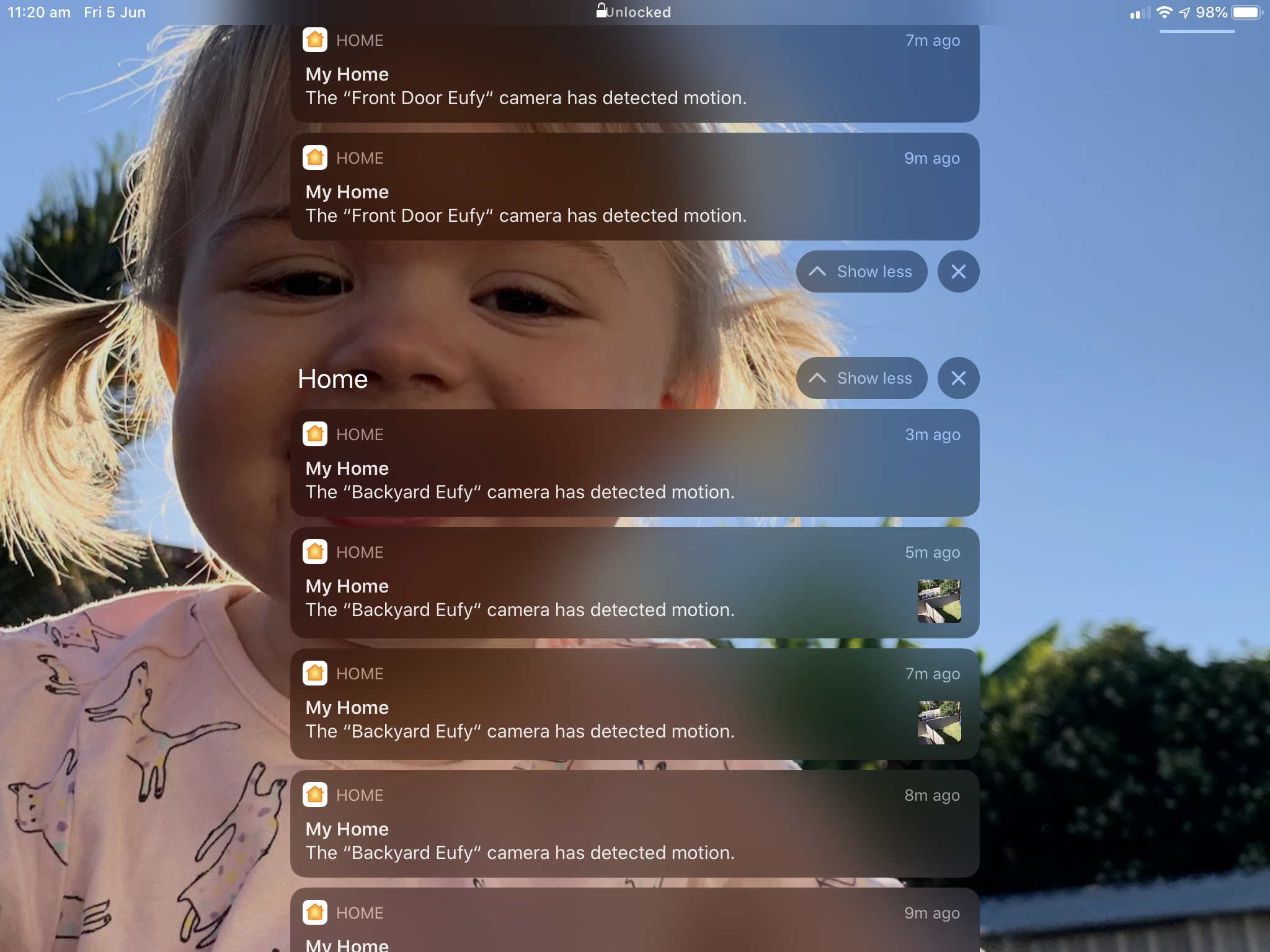 Why do thumbnail images of the movement appear on the Eufy 2C camera, but many times I don't have the setting set for the store preview and most of the time it will show me an image, but sometimes it won't?