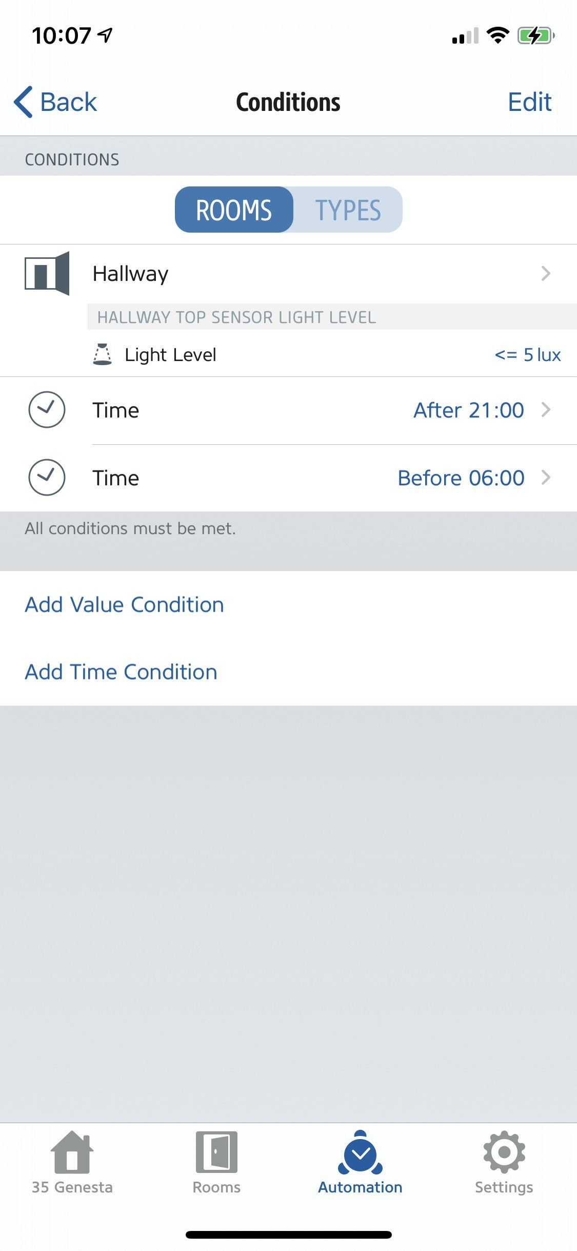 You need help automating the brightness setting of the light