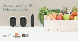 Arlo is a partner with Second Harvest to donate tables for each camera purchase