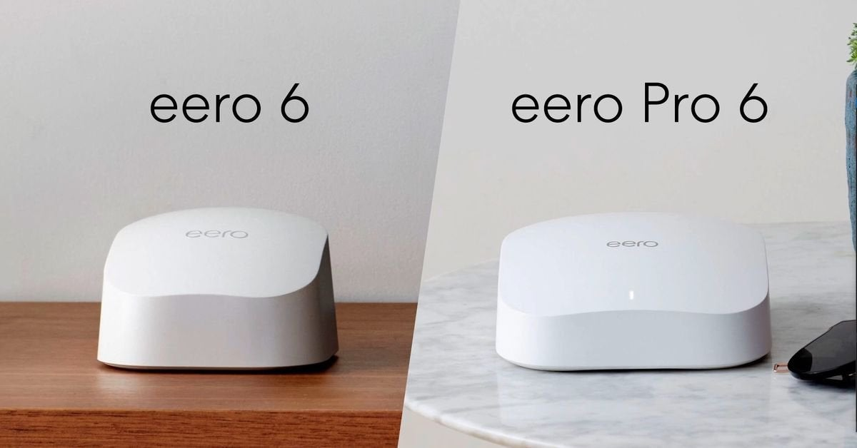 eero 6 and eero Pro 6 available for pre-order today. Compatible with existing hero line