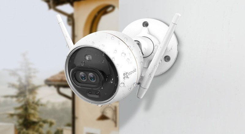 Ezviz C3x Dual Lens Smart Security Camera Outdoors