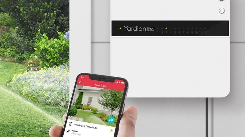 The latest Yardian Pro Sprinkler controller with HomeKit is available now